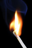 Burning match Royalty Free Stock Image