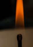 burning match royaltyfri foto