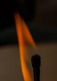 burning match Arkivfoton