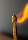 burning match royaltyfri fotografi