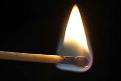 A burning Match Stock Photos