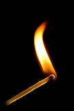 Burning match on black Royalty Free Stock Photography