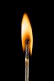 Burning match, on black background Royalty Free Stock Photo