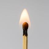 Burning match closeup Royalty Free Stock Photos