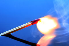 Burning Match Stock Photos