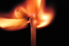 Burning match head Royalty Free Stock Photo