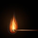 Burning match illustration Stock Image