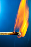 Burning match macro stock photography
