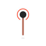 Burning match simple icon Royalty Free Stock Photos