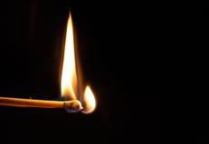 Burning Match III Stock Images
