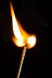Burning Match Stick Royalty Free Stock Photo
