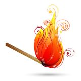 Burning match vector. Stock Photography