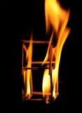 Burning matches Stock Photography