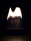 Burning matches Royalty Free Stock Photos