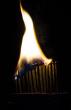 Burning matches Royalty Free Stock Photo