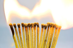 burning matches för bakgrund Royaltyfria Bilder