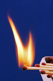 Burning matches. Stock Images