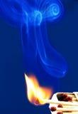 Burning matches. Stock Image