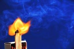 Burning matches. royalty free stock photo