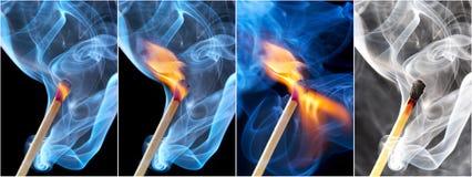 burning matchfoto Royaltyfria Bilder