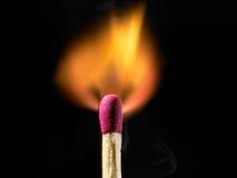 burning matchstick Fotografering för Bildbyråer