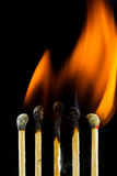 Burning matchstick Royalty Free Stock Photos