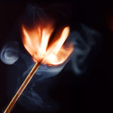 Burning matchstick Stock Photos