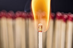 Burning matchstick Royalty Free Stock Images