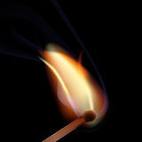 Burning matchstick Stock Photo