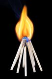 burning matchsticks Arkivbild