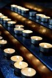Burning memorial candles stock photos