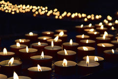 Burning memorial candles royalty free stock images