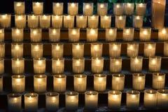 Burning memorial candles stock photography