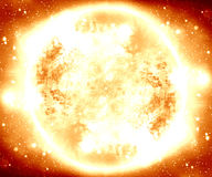 Burning meteor Stock Images