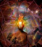 Burning mind stock illustration