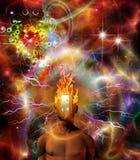 Burning mind vector illustration
