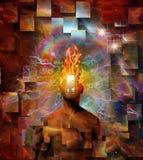 Burning mind royalty free illustration