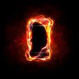 burning mobiltelefon vektor illustrationer