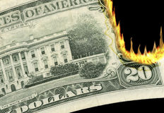 Burning Money! stock images