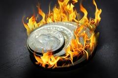 Burning Money Royalty Free Stock Images