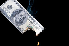 Burning Money Royalty Free Stock Photo
