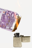 Burning money 2 Royalty Free Stock Image