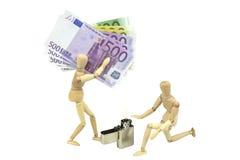 Burning money 2 Royalty Free Stock Image