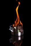 Burning money Stock Image