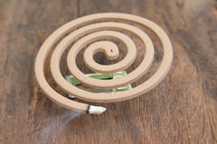 Burning mosquito coil Stock Photography