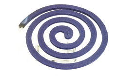 Burning mosquito coil. Royalty Free Stock Photos