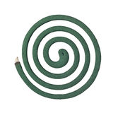 Burning mosquito coil Royalty Free Stock Images