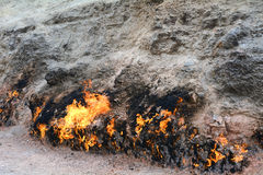 Burning mountain, Yanar Dag, Azerbaijan Stock Photos