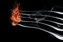 Burning music. Image of burning music on a black background Royalty Free Stock Image