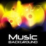 Burning Music Background. Abstract Music Background - Compact Discs and Notes on Burning Background / Vector Stock Images